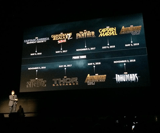 A Glimpse At Marvel's 9 New Films Through 2019 - D23