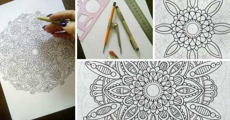 How to Draw Mandala Designs and Create Your Own Free Coloring Pages     Have you ever been fascinated by these beautiful filled with intricate  details mysterious circles called mandalas  Would you like to learn how you  can