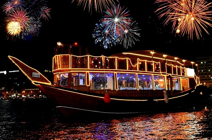 Dubai New Year 2018  A Guide To Celebrate It Grandly dhow cruise in new year dubai