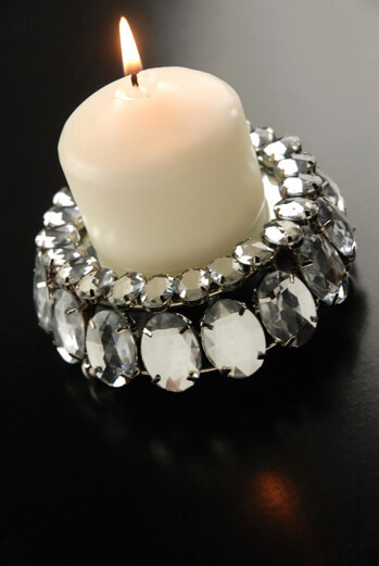 Crystal Rhinestone 4 Quot Votive Candle Holder With Mirror