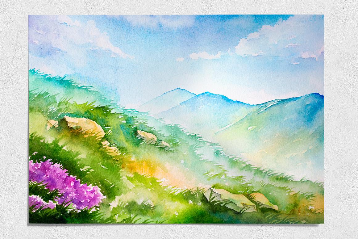 Spring Landscapes. Watercolor. by AlexG | Design Bundles