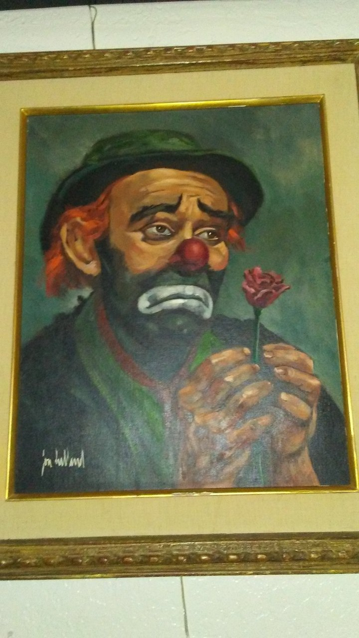 How May I Find Out How Much My Clown Oil Painting Is Worth Artifact Collectors