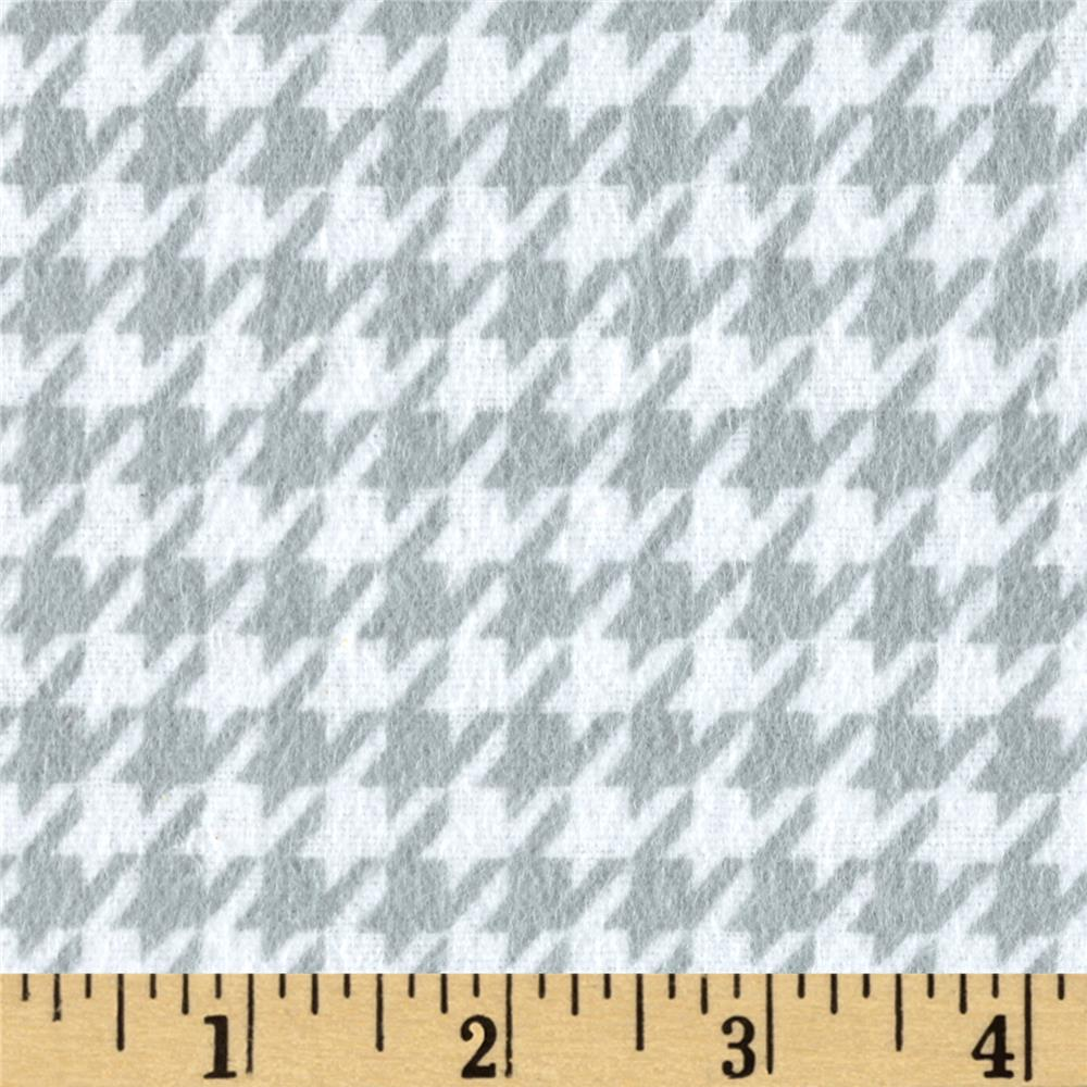 Gray Houndstooth Upholstery Fabric