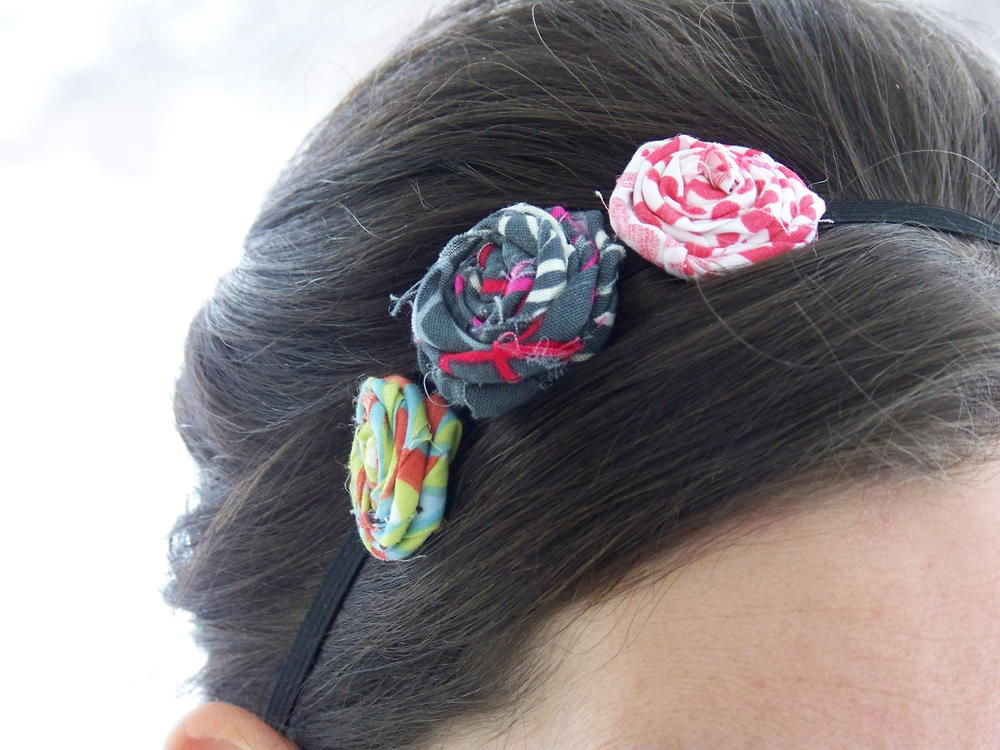 Flower Headband Fabric