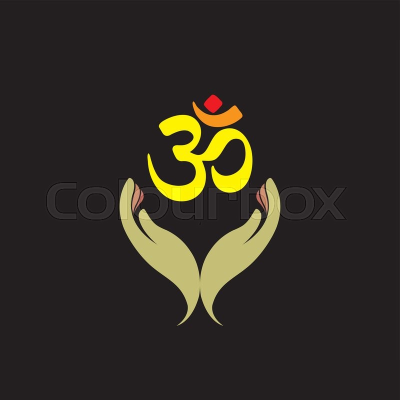 Praying person's hand and om symbol - ...   Stock Vector ...