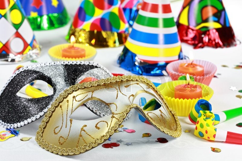 Party accessories for New Year Eve  birthday party or carnival     Party accessories for New Year Eve  birthday party or carnival   Stock  Photo   Colourbox