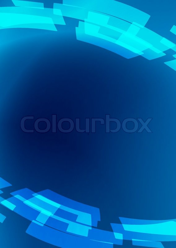 Blue Flyer Vector Abstract Stock Vector Colourbox