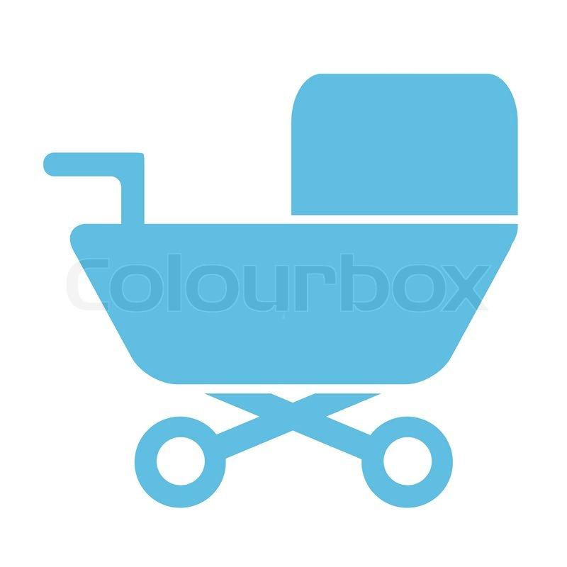 Simple Silhouette Icon Button Stock Vector Colourbox