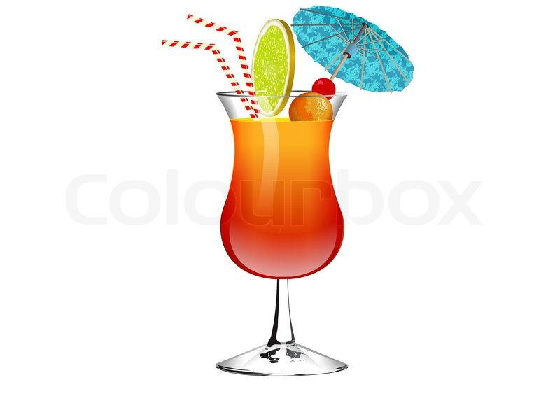 Exotic Drink Stock Vector Colourbox