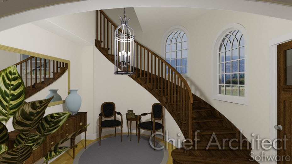 Creating Curved Or Spiral Staircases | Semi Spiral Staircase Design | Handrail | Inside | Semi Circular | Elegant | Residential Library
