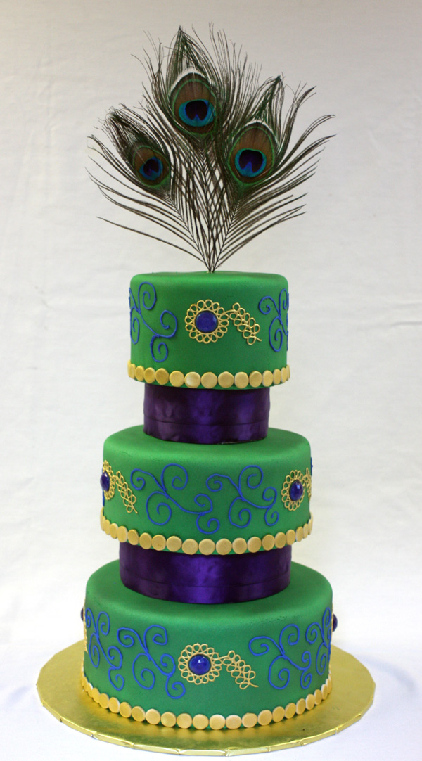 Peacock Wedding Cake   Around the World in 80 Cakes peacock wedding cake