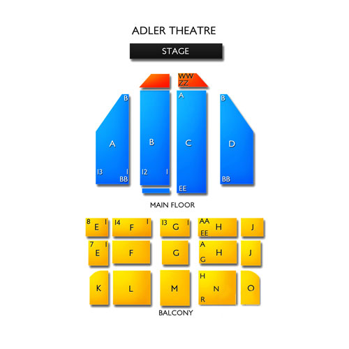 Adler Theatre Seating Chart Vivid Seats