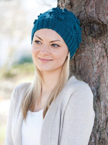Bulky Pattern Crochet Beret Yarn