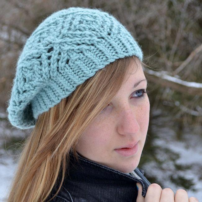 Pattern Crochet Beret Bulky Yarn