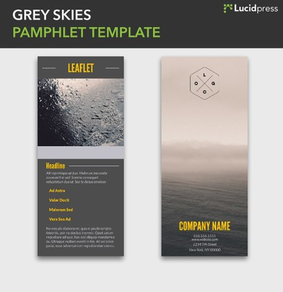 21 Creative Brochure Cover Design Ideas for Your Inspiration Oceanside Pamphlet Template