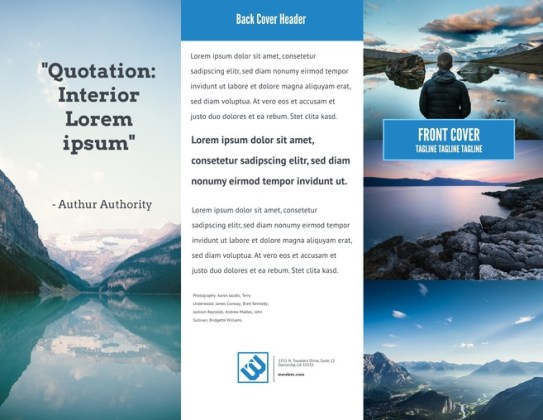 350  Free Design Templates for Business   Education Big Sky Advertising   Marketing Brochure Template