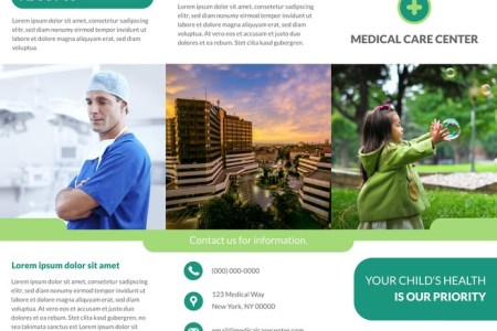 Free Tri Fold Brochure Templates   Examples  15  Free Templates  Contemporary Medical Tri Fold Brochure Template
