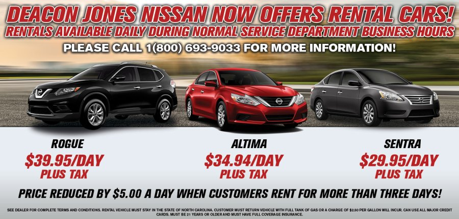 Nissan Rental Vehicles Yes  we are a Nissan dealership  but we don t just sell cars   we also rent  them