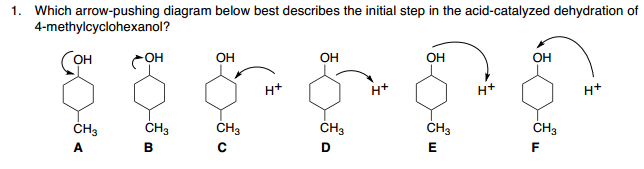 dehydration of 2 methylcyclohexanol mechanism