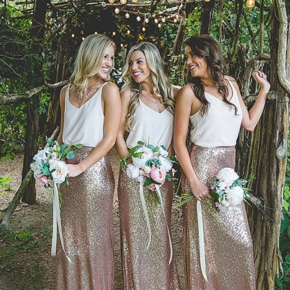 Hot selling Bridesmaid Dresses Two Piece Bridesmaid Dresses Sparkly     Hot selling Bridesmaid Dresses Two Piece Bridesmaid Dresses Sparkly Bridesmaid  Dresses Rose Gold