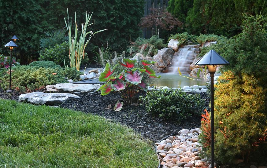 Garden Pond Waterfall Ideas