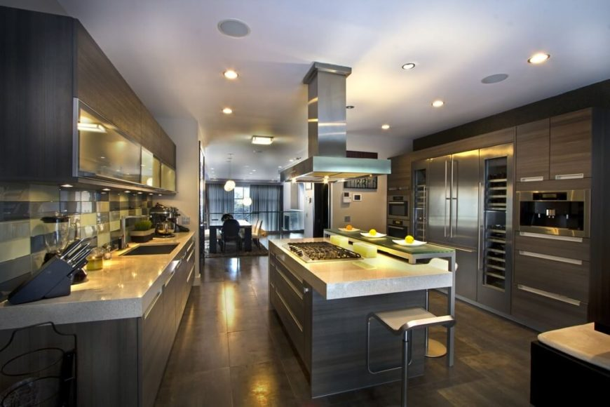 25 Elegant Kitchens Without Windows  Pictures  This space has a modern ambience  The countertops are lined with a chic  granite that