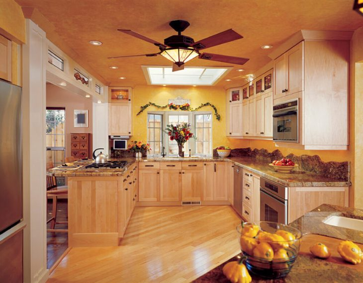 46 Kitchen Lighting Ideas  FANTASTIC PICTURES  One large skylight in this room brightens up the space considerably while  can lights help to