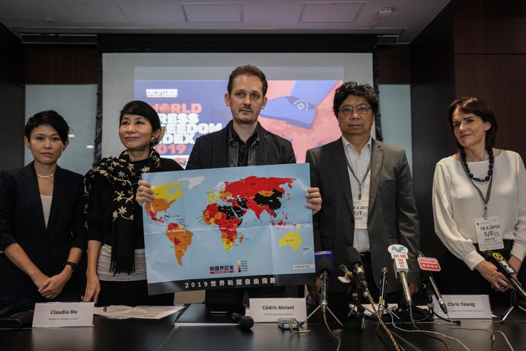 全球新闻自由度:中国大陆、香港排名再倒退
