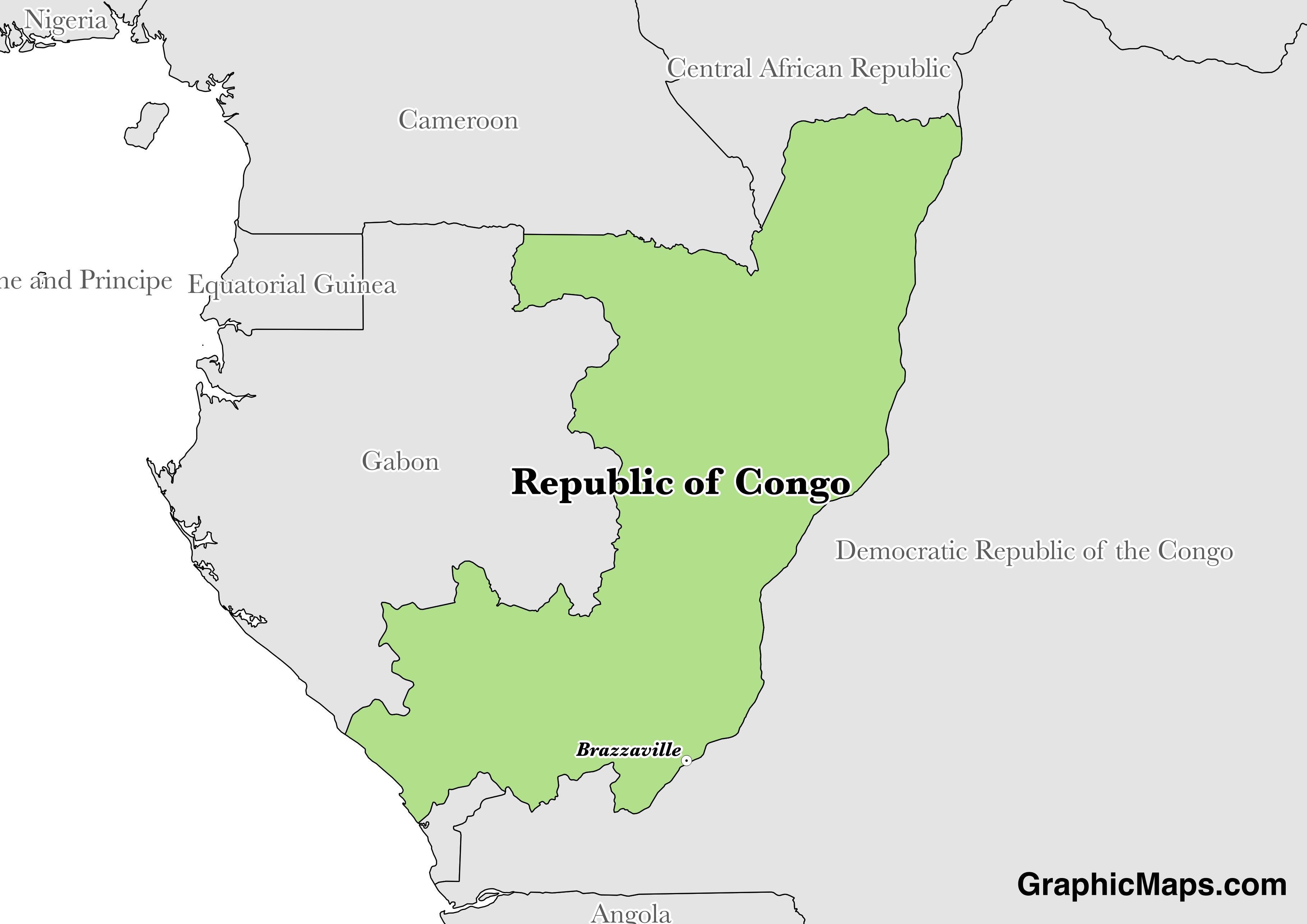 Democratic Republic Congo World Map Where Located S