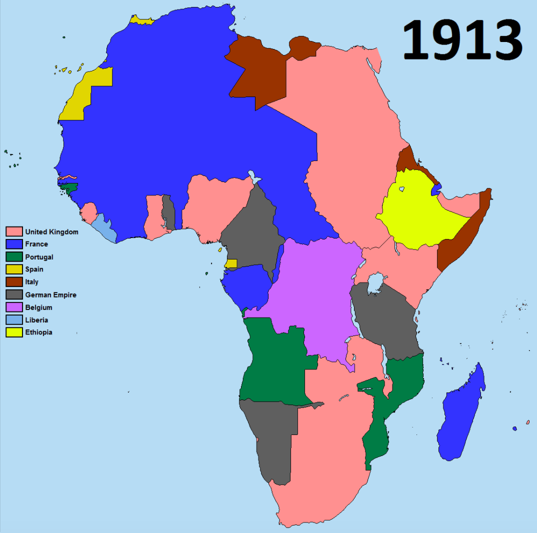 Map Africa During Colonial Times
