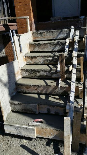 Concrete Steps West Philadelphia Dependable Concrete Contractor Llc | Replacing Concrete Steps With Wood | Stringers | Stair Railing | Composite Decking | Pouring Concrete | Concrete Slab