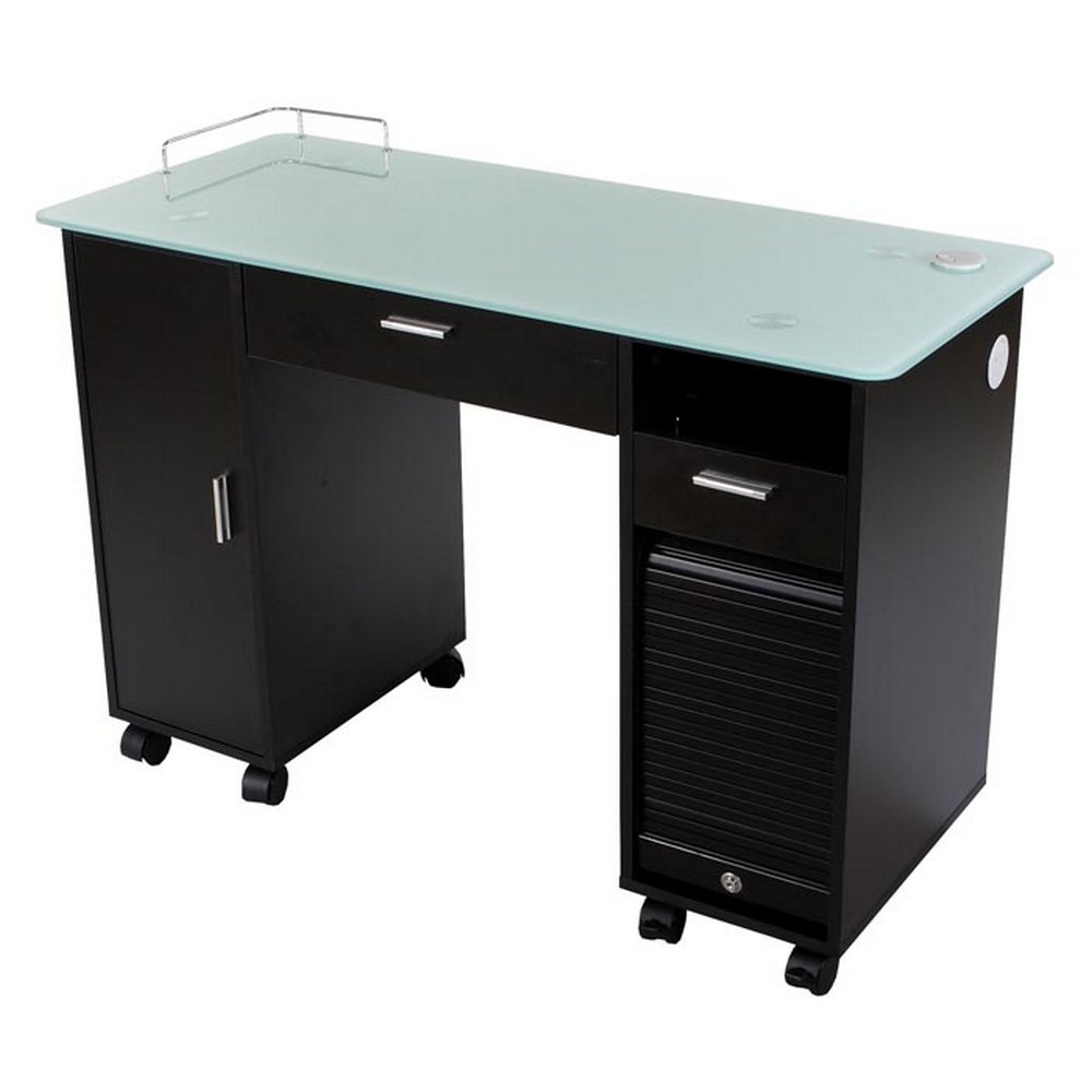 Open Top Desk With Drawer