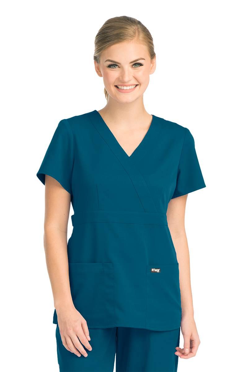 Grey's Anatomy Women's 4153 3 Pocket Mock Wrap Scrub Top ...