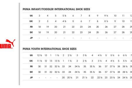 Puma shoe size guide cm all about shoes