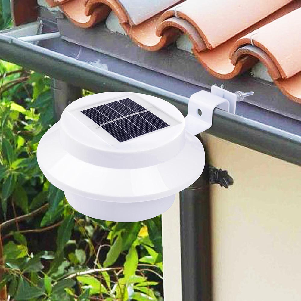 2 Pcs Solar Powered Automatic Led Mounted Gutter Night