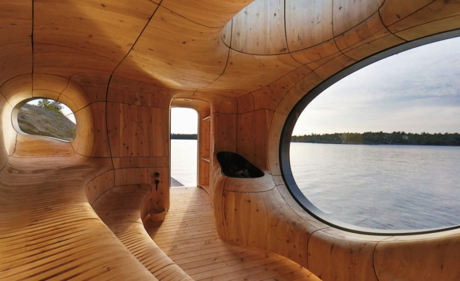17 inviting hot tubs and saunas that will keep you warm all winter sauna 1