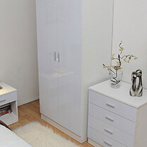 Otto White High Gloss Bedroom Furniture     35     329    Bedroom Furniture Otto White High Gloss Bedroom Furniture     35     329