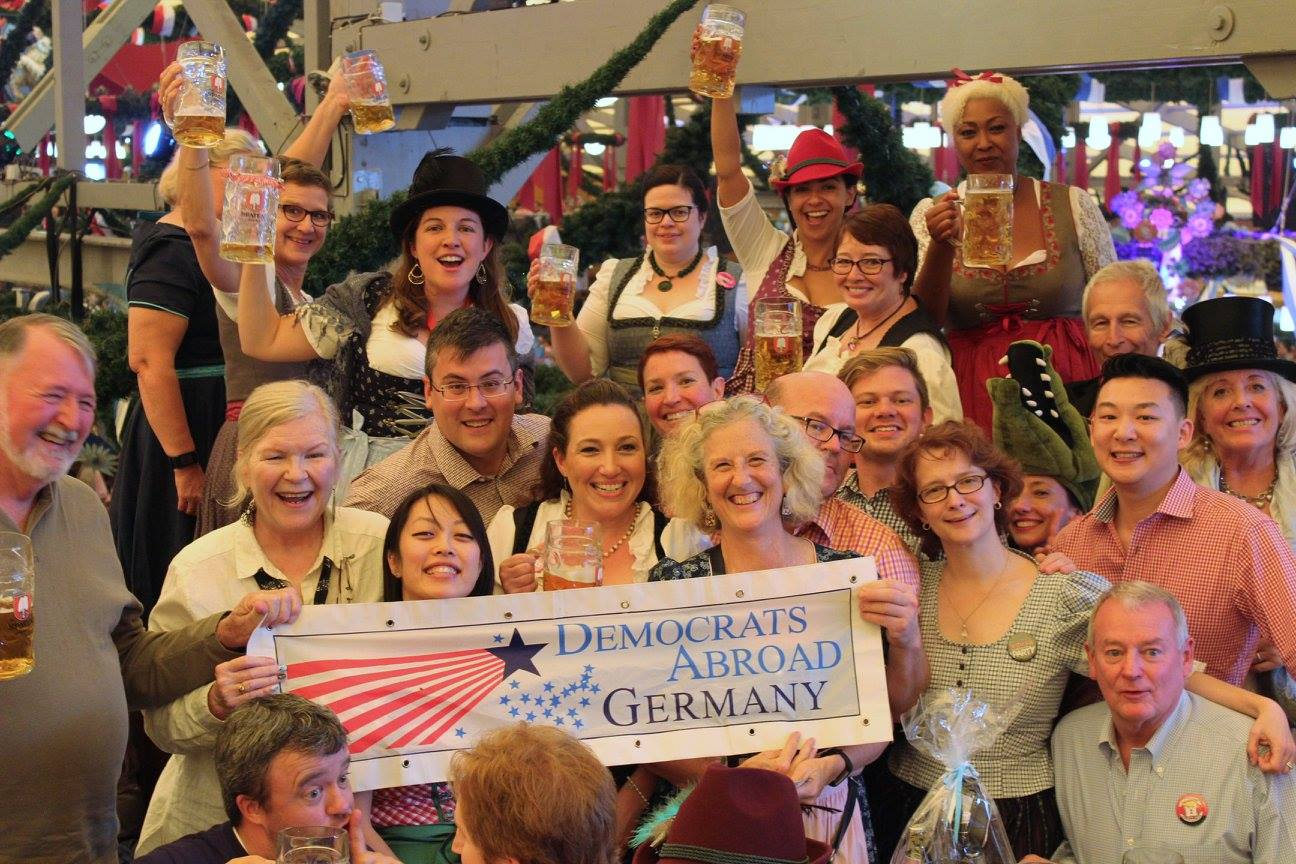 Oktoberfest 2018   Democrats Abroad Join us at Munich s Oktoberfest  with 120 Democrats from all around the  world  in the most traditional of all the beer tents