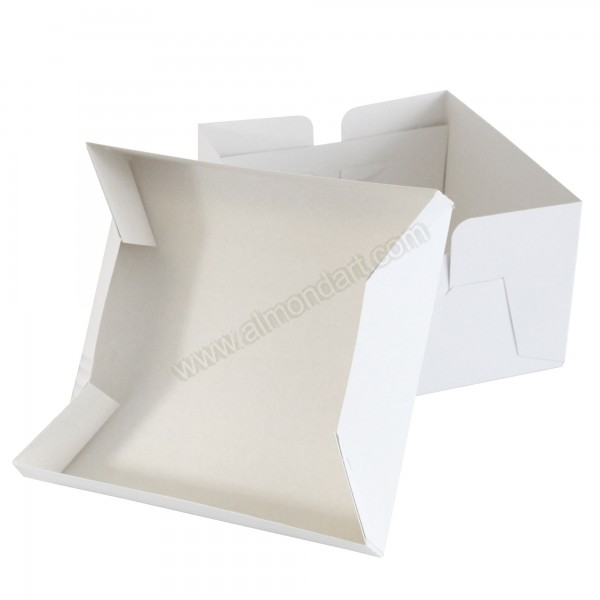 Buy White Wedding Cake Box   Lid Online White Folding Box   Lid