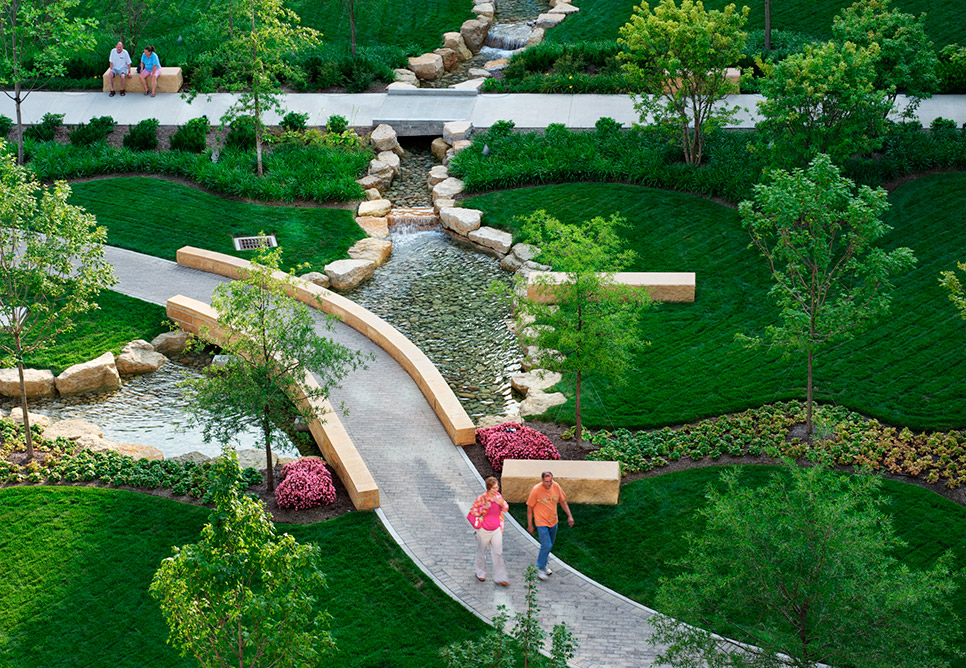 Miami Valley Hospital Landscape Design Nbbj