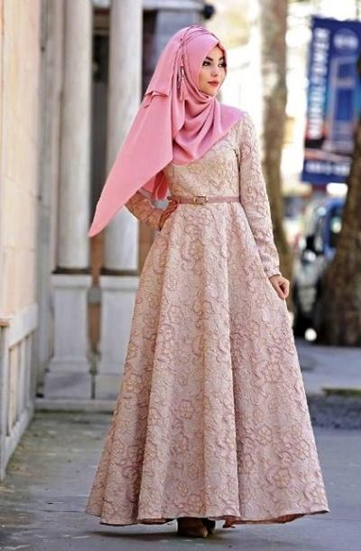 Model Dress Brokat Panjang Terbaru 17