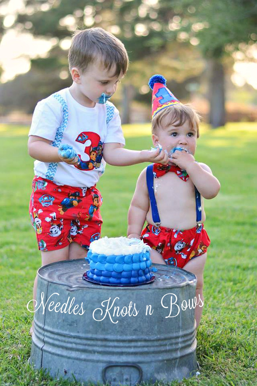 Boys Paw Patrol Cake Smash Set Boys 1st Birthday Outfit