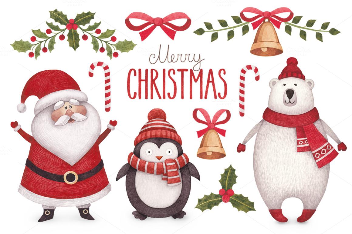Cute Christmas illustrations ~ Illustrations on Creative ...
