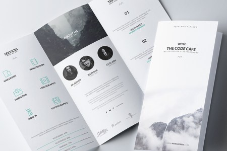 How to Design a Stunning Brochure  30 Expert Tips and Templates     Give an option  Minimal Brochure Template