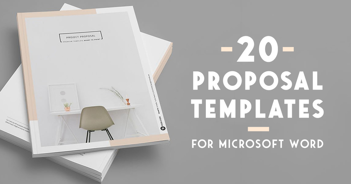 20 Creative Business Proposal Templates You Won t Believe Are     20 Creative Business Proposal Templates You Won t Believe Are Microsoft  Word   Creative Market Blog