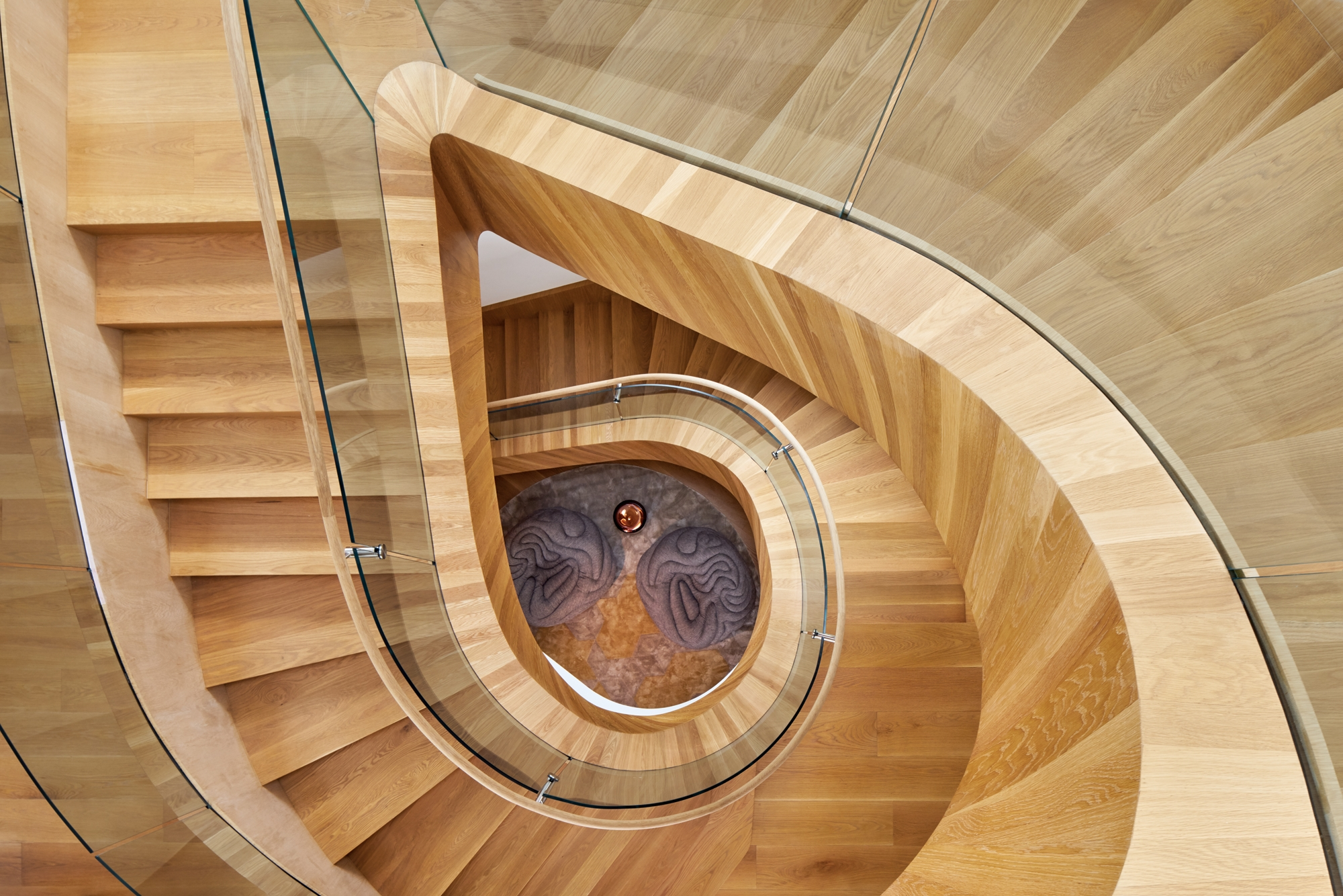 8 Simply Amazing Spiral Staircases Interior Design Magazine | Spiral Staircase Los Angeles | Loft | Handrail | 42 Inch | Romantic | Double Spiral