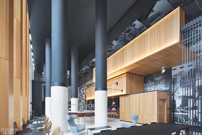 22 Cool And Captivating Hotel Lobbies Interior Design Magazine | Stair Room Exterior Design | 3 Floor Building | Box Type | Brick | Open Plan | Amazing