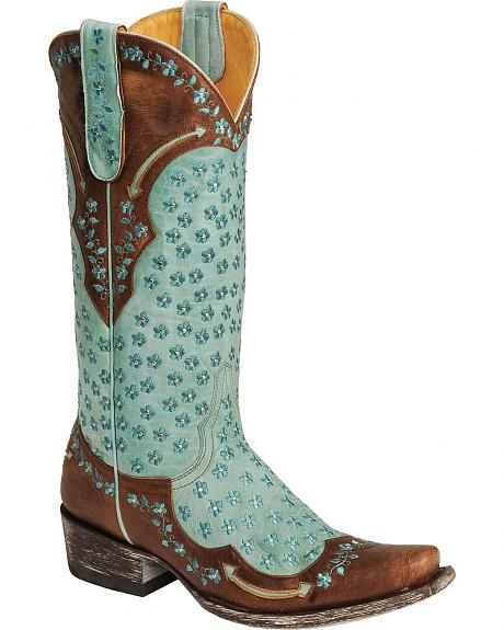 Old Gringo Tabetha All Over Flower Design Cowgirl Boots