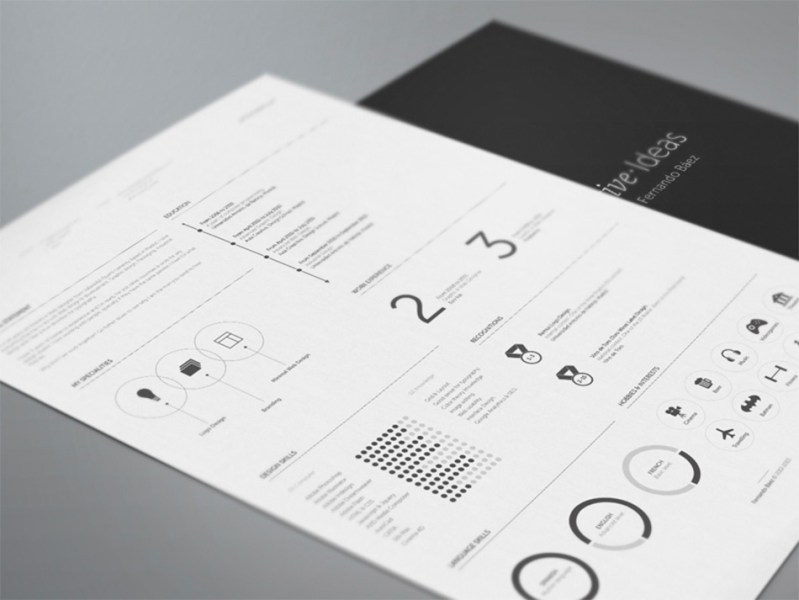 Best Free Resume Templates For Designers dark clean resume