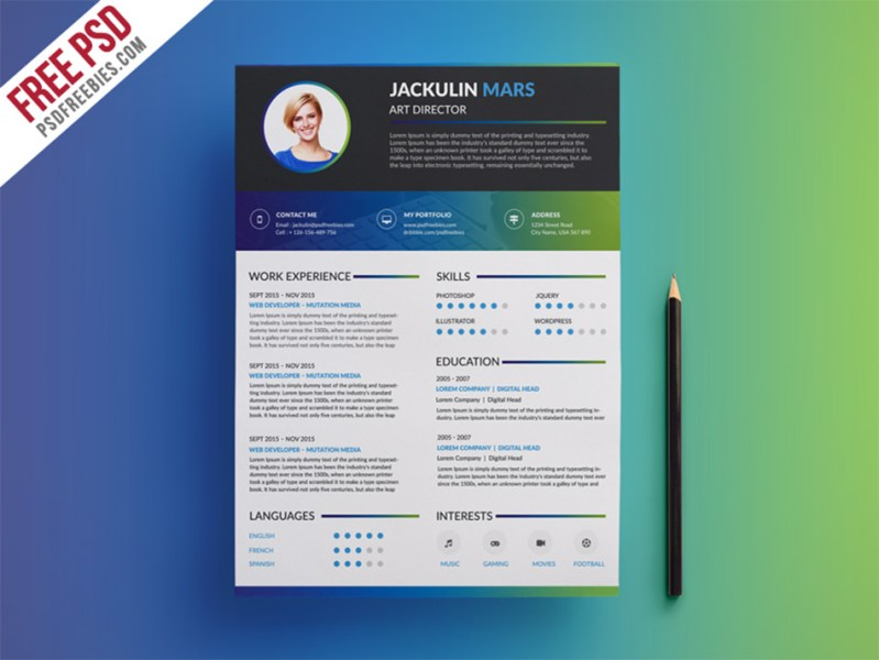 Best Free Resume Templates For Designers colorful creative resume